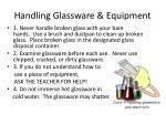 handling glassware equipment
