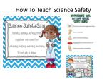 how t o teach science safety