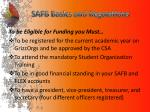 safb basics and regulations