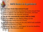 safb basics regulations