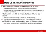 more on the hdfs namenode