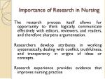 importance of research in nursing1