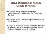 status of research at kamuzu college of nursing10