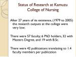 status of research at kamuzu college of nursing2