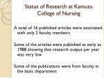 status of research at kamuzu college of nursing3
