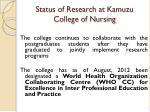 status of research at kamuzu college of nursing8