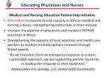 educating physicians and nurses