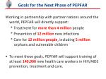 goals for the next phase of pepfar