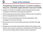 goals of the initiative
