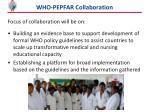 who pepfar collaboration