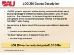 log 200 course description