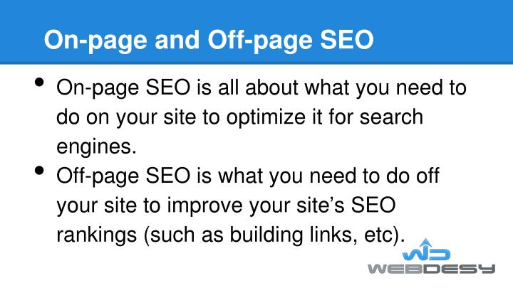 On-page and Off-page SEO