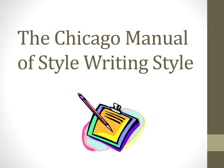 the chicago manual of style writing style n.