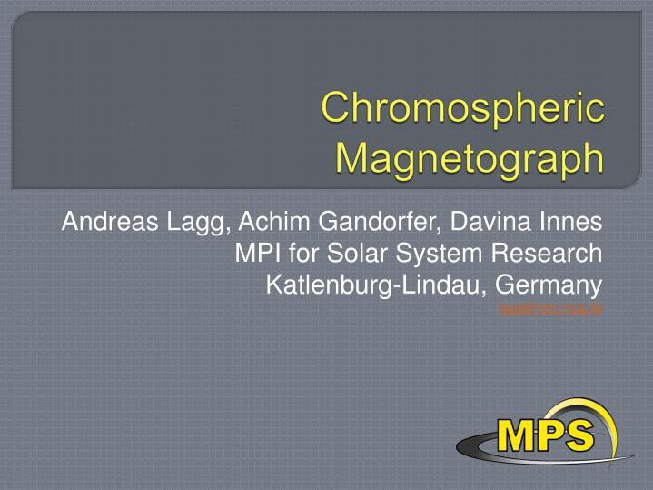 chromospheric magnetograph n.