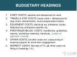 budgetary headings