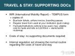 travel stay supporting docs