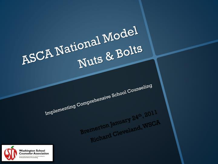 asca national model nuts bolts implementing comprehensive school counseling n.