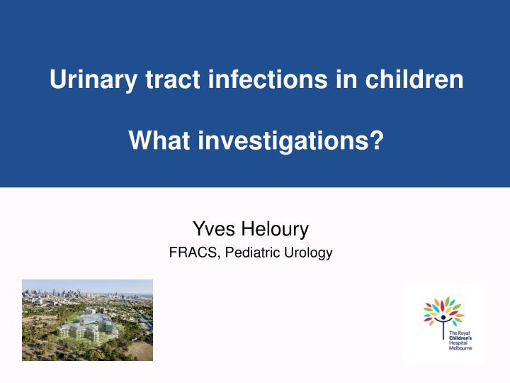 urinary tract infections in children what investigations n.