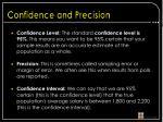 confidence and precision