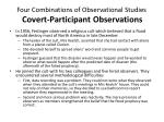 four combinations of observational studies co vert participant observations