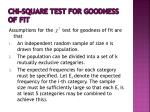 chi square test for goodness of fit