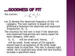 goodness of fit1