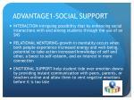 advantage1 social support