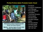 profesi profesi dalam produksi audio visual