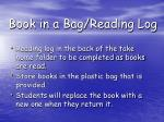 book in a bag reading log