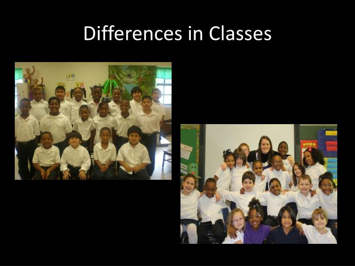 Differences in classes