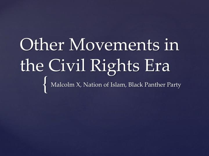other movements in the civil rights era n.