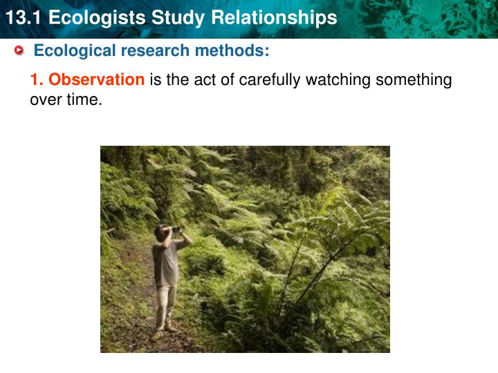 Ecological research methods: