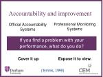 accountability and improvement