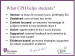 what cpd helps students