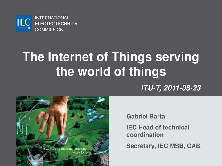 the internet of things serving the world of things n.