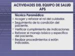 actividades del equipo de salud aps3