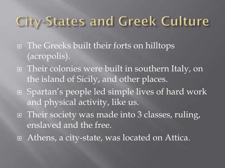 City-States and Greek Culture
