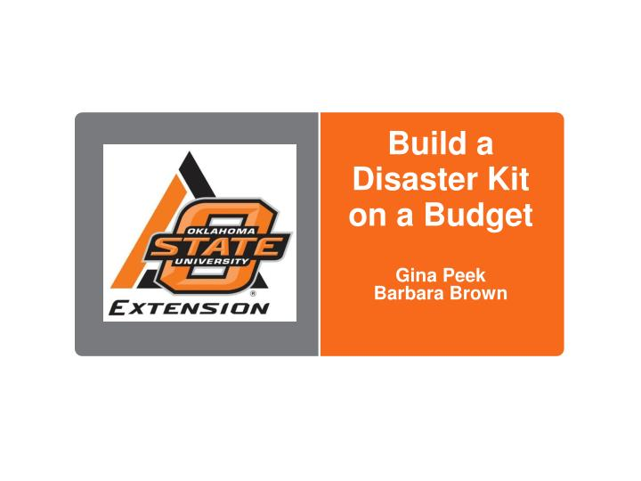 build a disaster kit on a budget n.