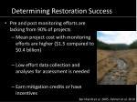 determining restoration success1