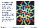 accessibility is a process