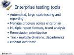 enterprise testing tools