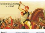 executive leadership is critical