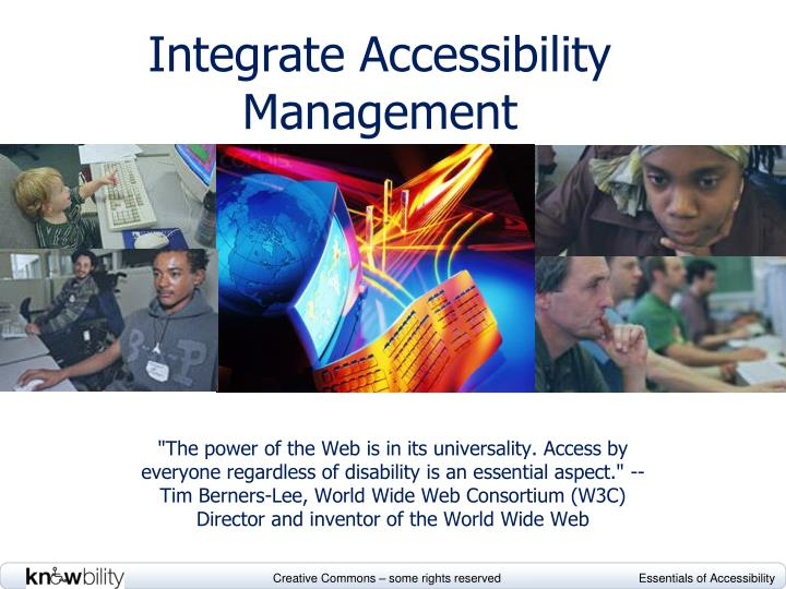 integrate accessibility management n.