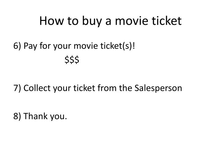 How to buy a movie ticket