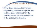 attrition grade inflation