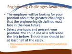 engineering challenges awareness