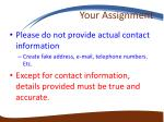 your assignment1