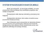 system wynagrodze w baby ok meble