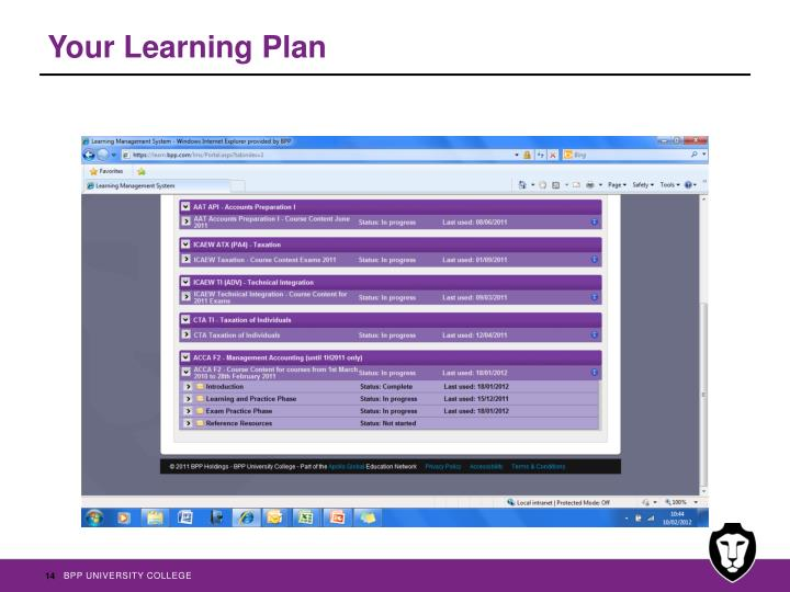 Your Learning Plan
