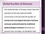 global burden of disesase1